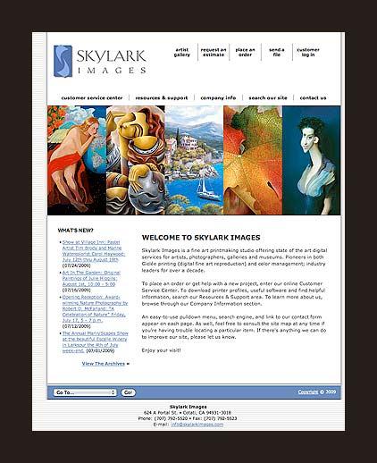 Skylark Images Home Page